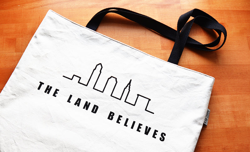 The Land Believes Shopping Tote | Liz Sabo Handcrafted Bags | Cleveland Ohio