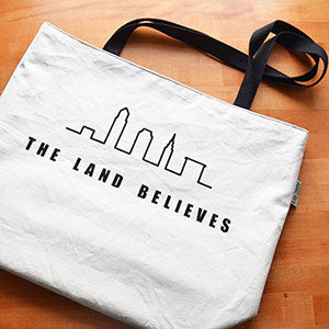Screen Printed Market Tote | The Land Believes Design | by Liz Sabo Cleveland Ohio