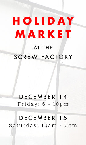 Holiday Market at the Screw Factory | Lakewood, Ohio | Liz Sabo Handmade | December 14-15, 2018