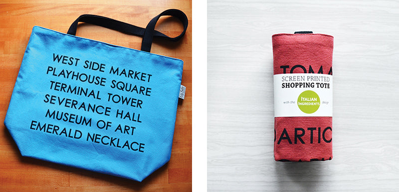 Screen Printed Shopping Totes | by Liz Sabo | Handmade in Cleveland | Fall Colors