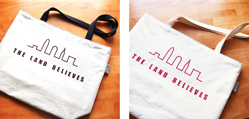 The Land Believes Market Bag | Liz Sabo Handcrafted Bags | Made in Cleveland, Ohio