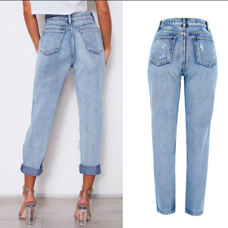 Vintage Destroyed Boyfriend Jeans