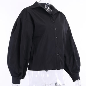 Elegant Lantern Sleeve Blouse (3 Colours Available)