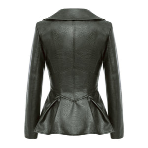 Couture Faux Leather Flare Jacket (4 Colours)