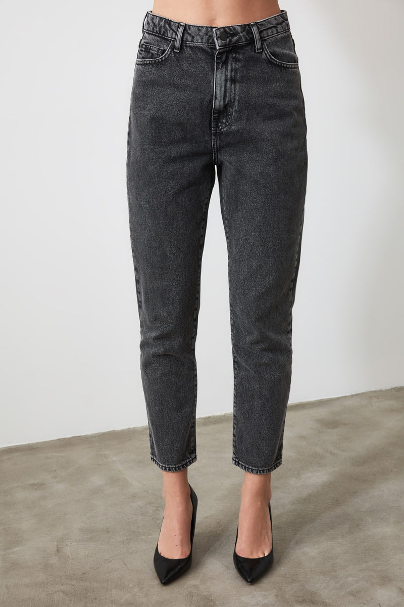 Anthracite Mom Jeans