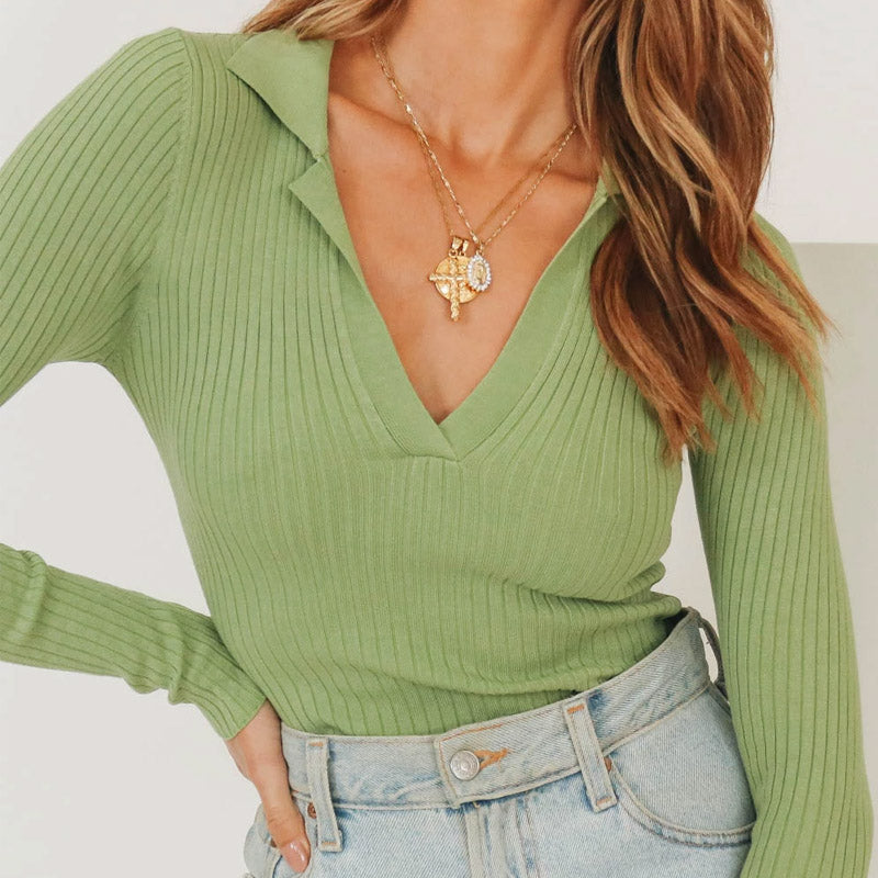 Madelaine Knitted Top