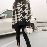 Houndstooth Oversized Sweater