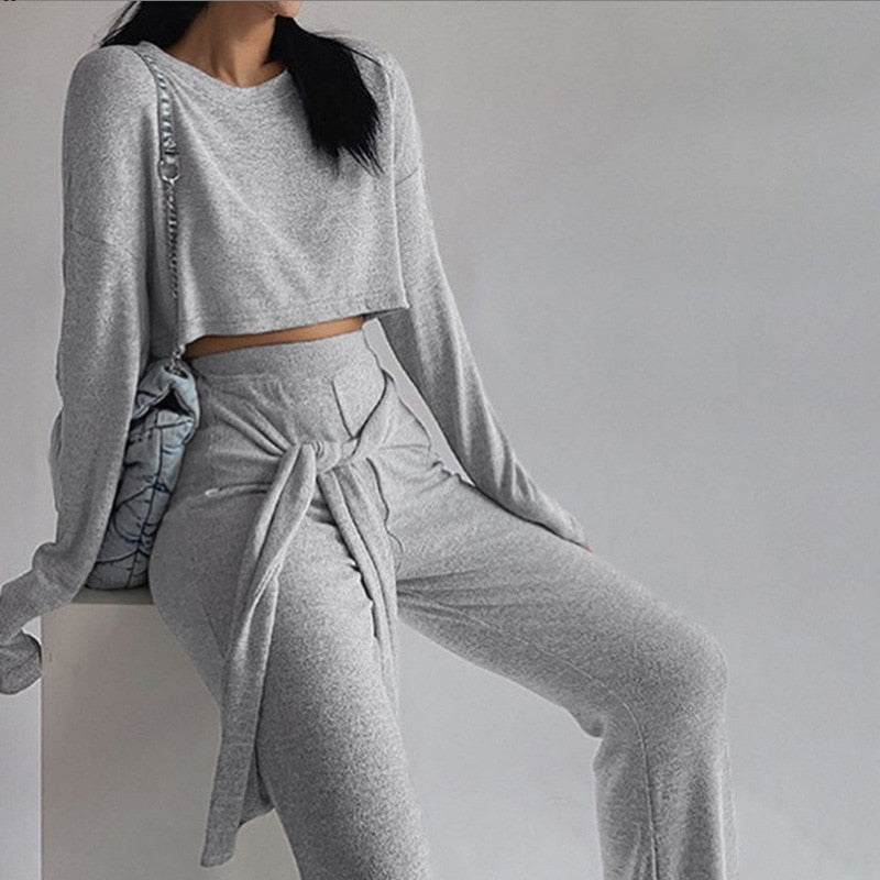 Luxe Casual Wide Pant Set