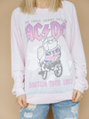 ACDC about to Rock Long Sleeve Sweatshirt