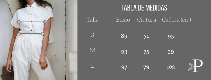 Tabla de Tallas Primitiva