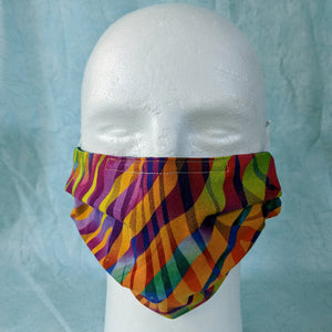 Zebra Rainbow Face Mask - Comfort Fit