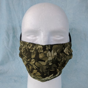 Green Camouflage Flowers Face Mask - Comfort Fit