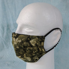 Load image into Gallery viewer, Green Camouflage Flowers Face Mask - Comfort Fit