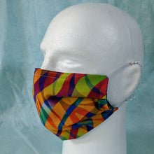 Load image into Gallery viewer, Zebra Rainbow Face Mask - Comfort Fit