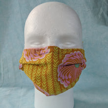 Load image into Gallery viewer, Delhi Blooms Face Mask front view.