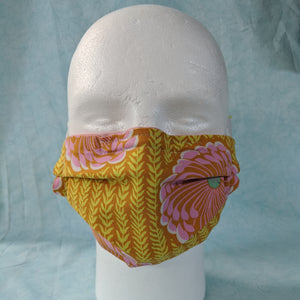 Delhi Blooms Face Mask front view.