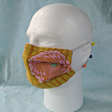 Load image into Gallery viewer, Delhi Blooms Face Mask side view.