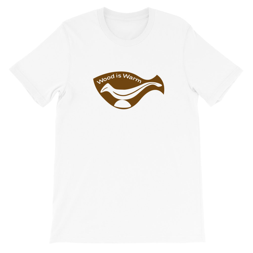 """Wood is Warm"" T-Shirt—Brown Graphic"