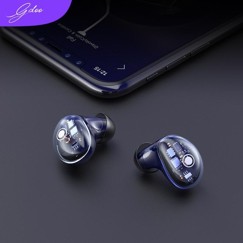 [IPX6 Waterproof & Bluetooth 5.0 Gen 2] TWS X7 Transparent Small Wireless Headset
