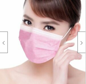 Disposable Medical Dental Industry Dust proof Mouth Face Mask Respirator 3 Color