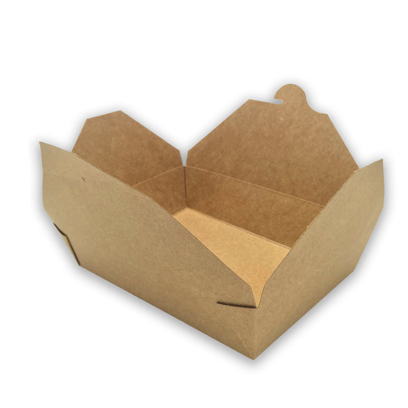 Caja Take Away Kraft 197 x 140 x 65mm (200 uds)