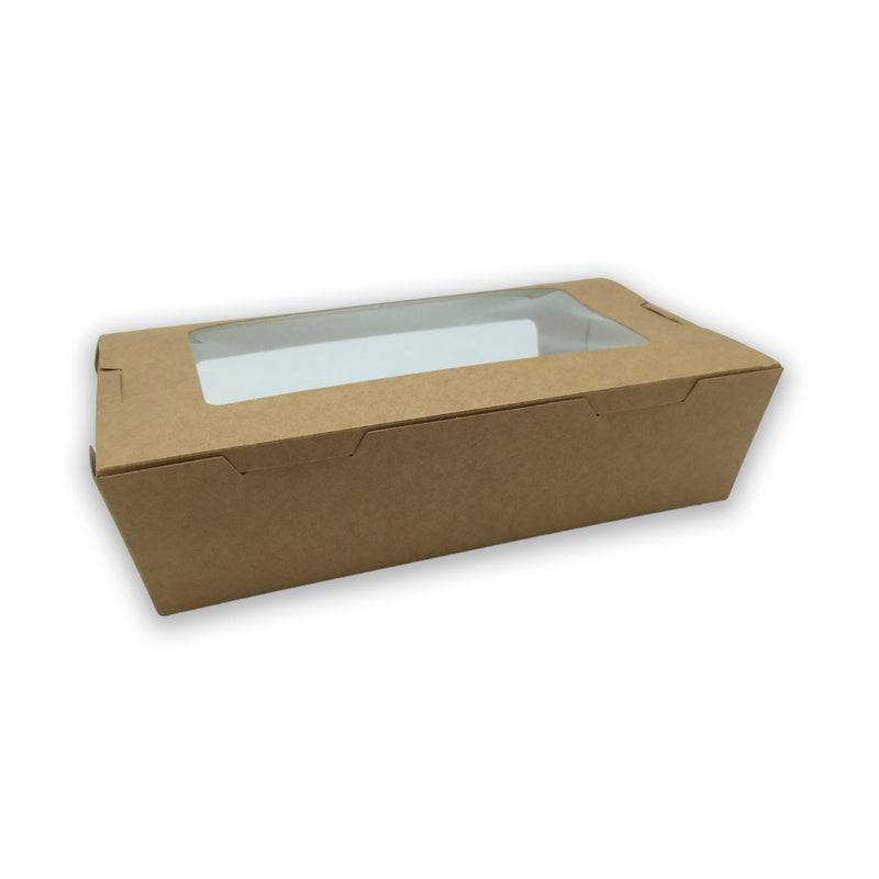 sushi box kraft con ventana 100% reciclables