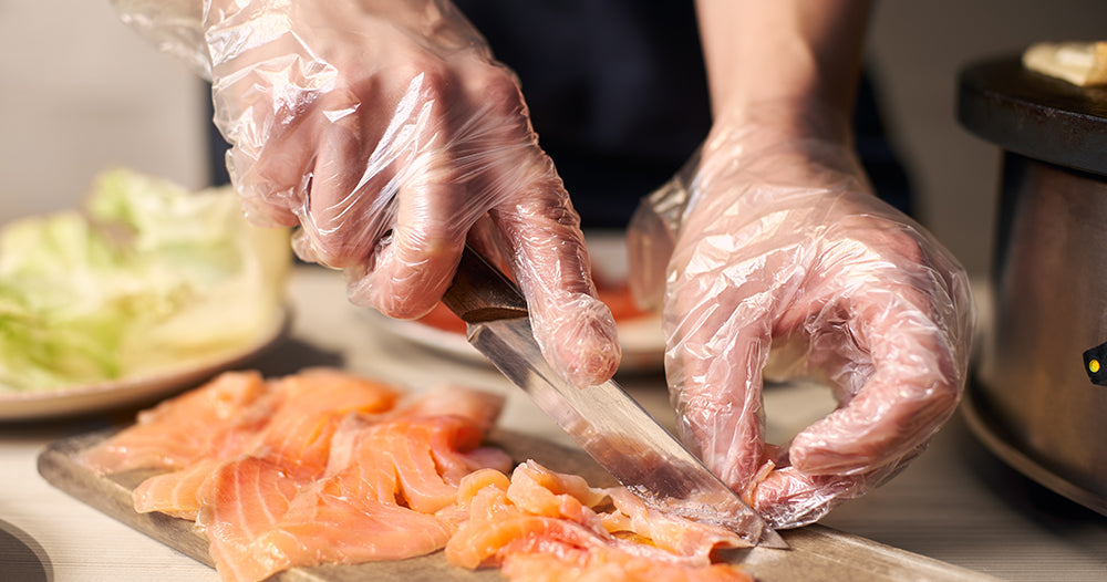 Food Grade Disposable Gloves for Food Prep Cooking