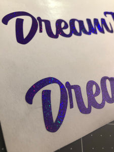"DreamTank 6"" Single Color Vinyl Sticker"
