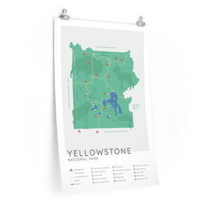 Yellowstone National Park Map - Mint