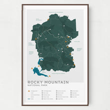 Load image into Gallery viewer, Rocky Mountain National Park Map - Natural