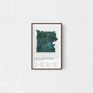 Yellowstone National Park Map - Natural