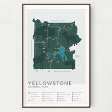 Load image into Gallery viewer, Yellowstone National Park Map - Natural