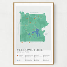 Load image into Gallery viewer, Yellowstone National Park Map - Mint