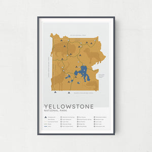 Yellowstone National Park Map - Vintage