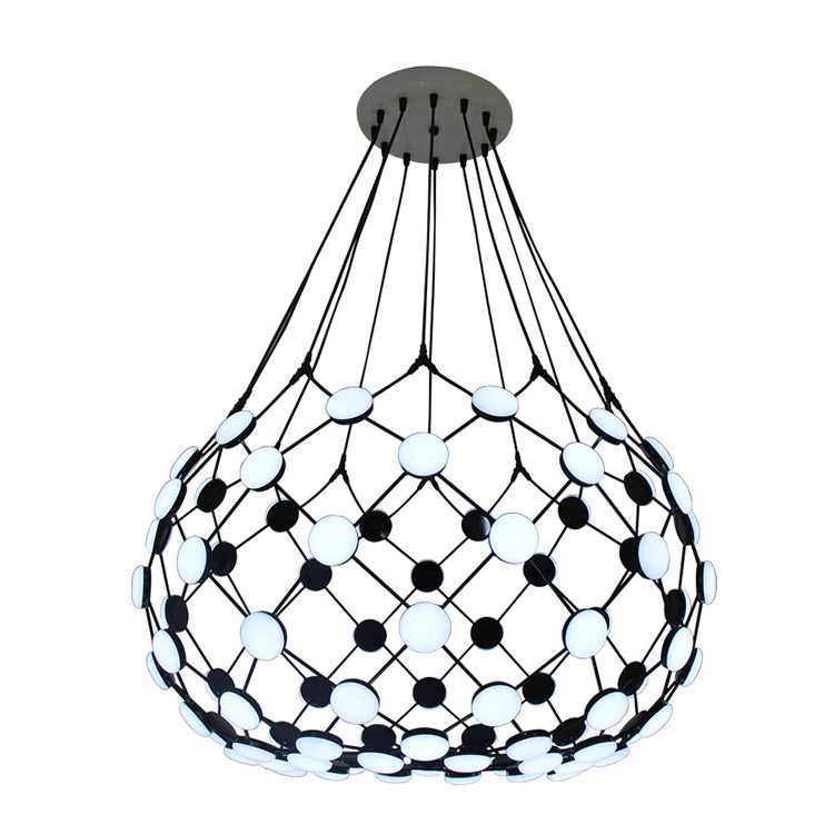 Modern Mesh Basket Lamp Chandelier Light Fixture