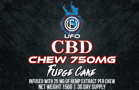 CBD Sports Chew Fudge Cake with Caffeine - 30 Days - UFOLabs