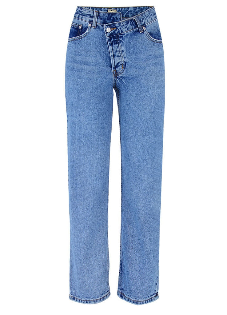 Autumn with High Waist Women Flare Jeans Bottom Ripped Jeans for Women Wide Leg Pants Denim Fat Skinny Jeans Woman