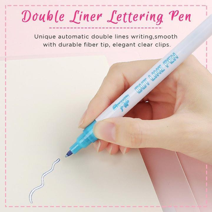Double Line Fluorescent Pen