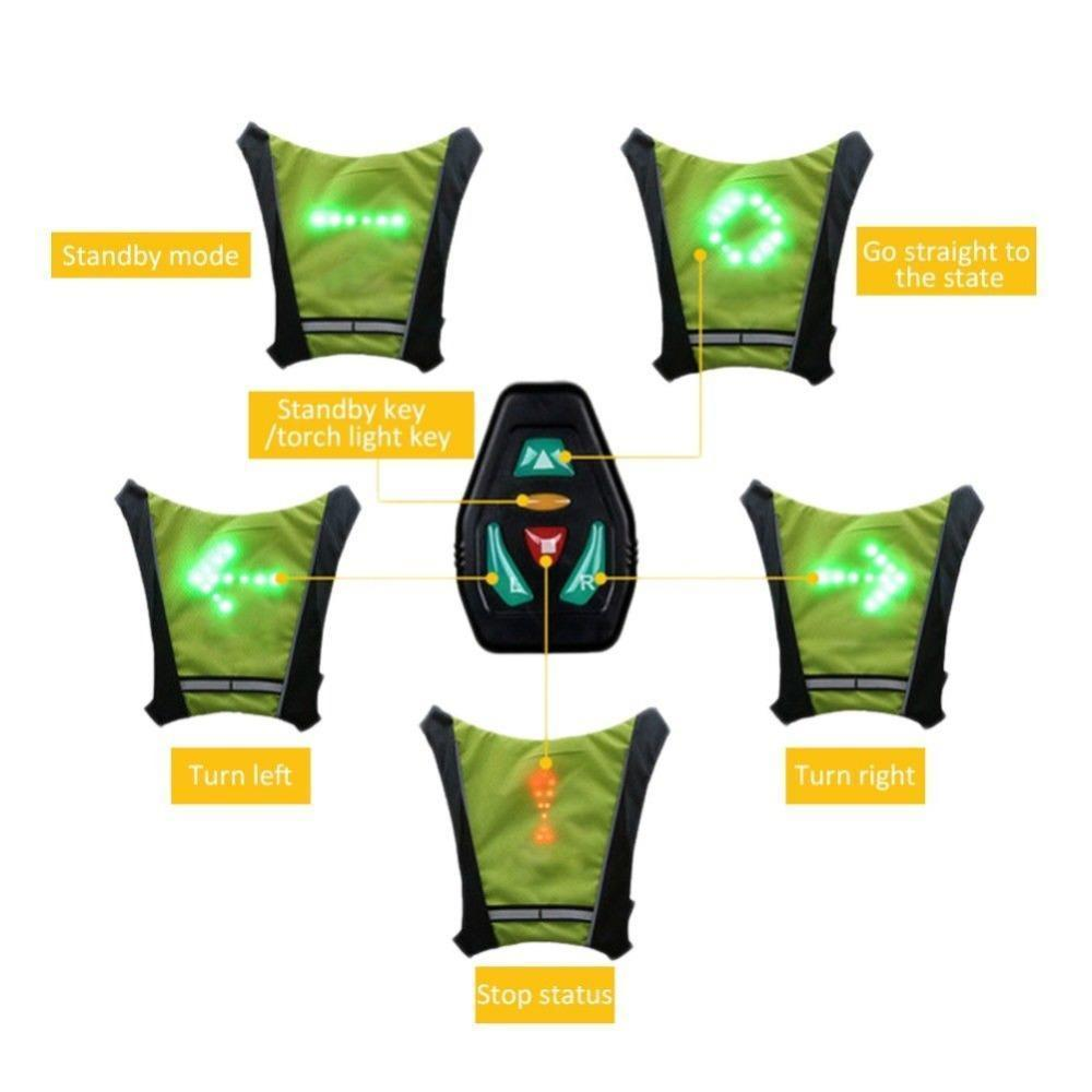 The Led Vest Whith Direction Indicators