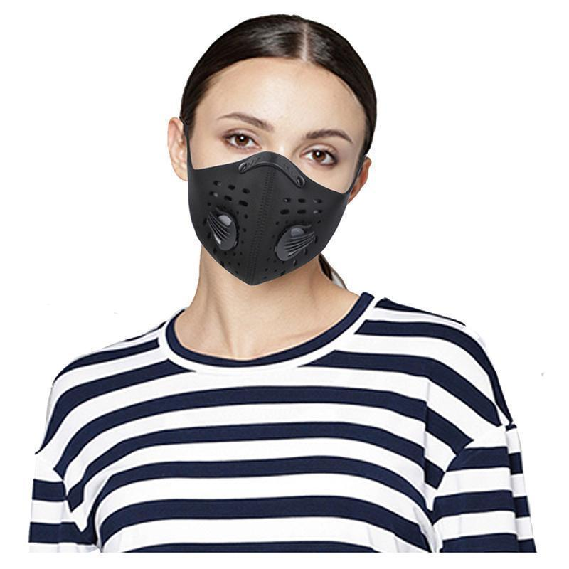 Non-medical Running/Cycling Activated Carbon Filter Washable Protection Mask