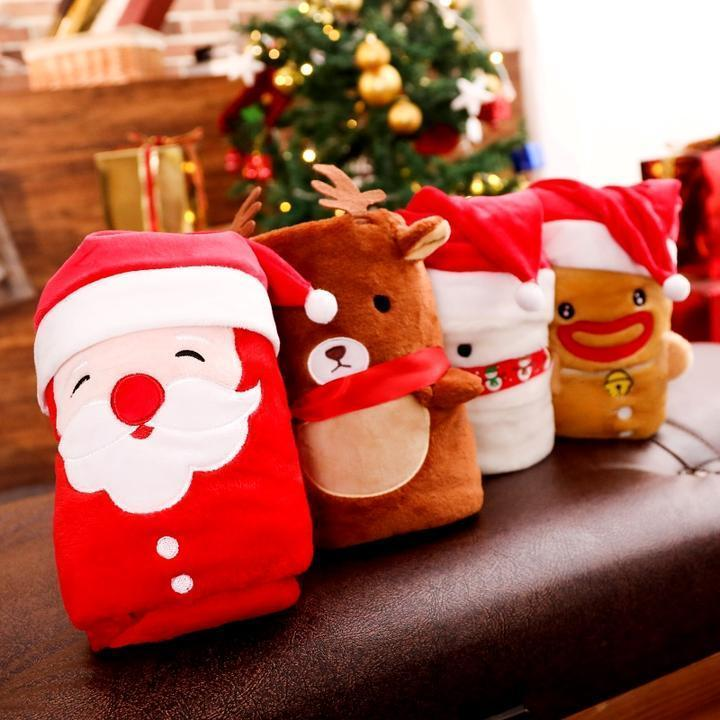 Christmas Gift Cartoon Flannel Blanket