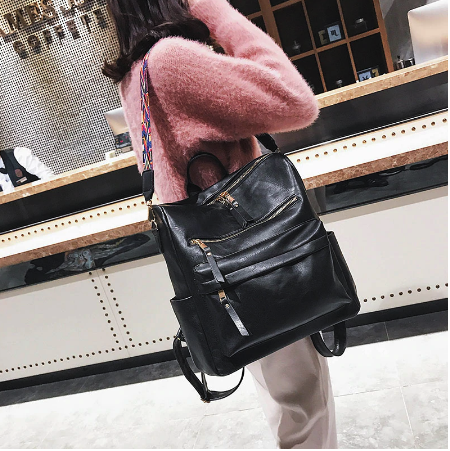 Retro Large Backpack Women