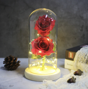 Eternal Led Rose In Glass Dome