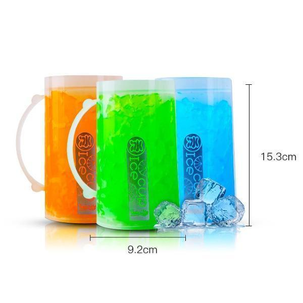 Luminous Double-layer Refrigerated Glass Beer Mug