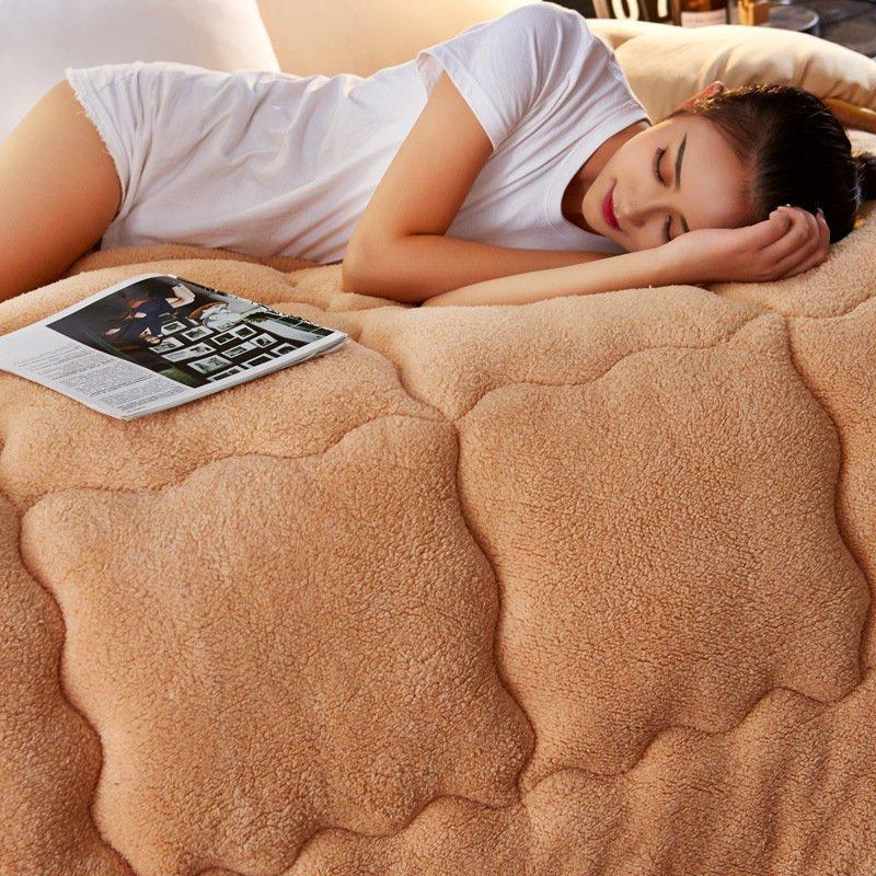 4Kg Thicken Shearling Blanket Winter Soft Warm Bed Quilt for Bedding Twin Full Queen King Size