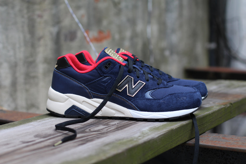 reputable site 2c29a 80ae7 New Balance 580 Navy & Gold - West NYC