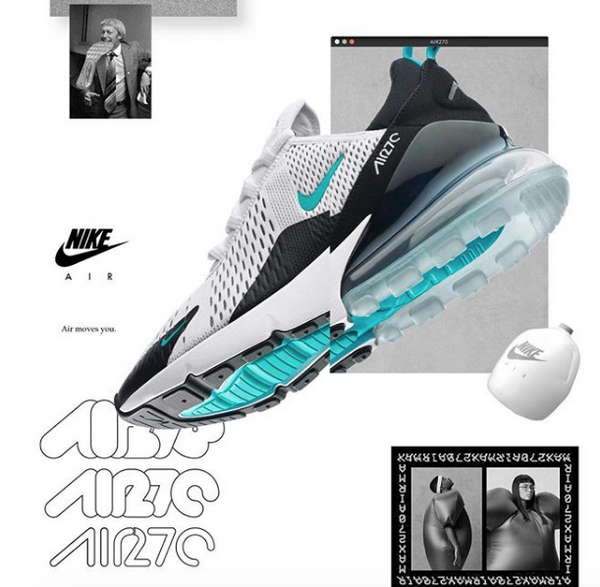 b7a6b27f1 Dressed up in a colorway that pays direct homage to one of its ancestors  and sources of design inspiration, the Nike Air Max 270