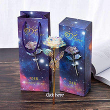 Load image into Gallery viewer, 24K Gold Dipped Long Stem Eternal Rose in Gift Box-Diverso world