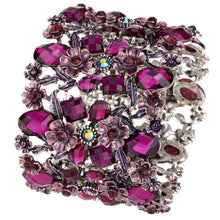 Load image into Gallery viewer, Wide Rose Bracelet in seven different colors - Diversoworld