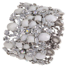 Load image into Gallery viewer, Antique Gold Plated Rhinestone and Crystal Bracelet-Diverso world
